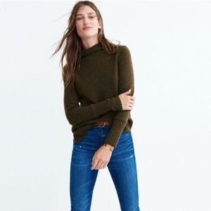 Madewell Olive Green Inland Turtleneck Sweater